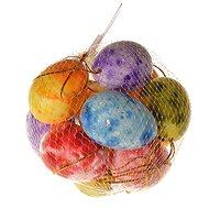 EverGreen Vejce záv. x12 ks, výška 4cm, síťka, barva různobarevná - Dekorace