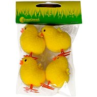 EverGreen Chicken x 4 pcs, height 5 cm, colour yellow - Decoration