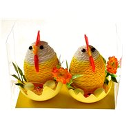 EverGreen Hen with chickens x 2 pcs, PVC Box, colour multicoloured - Decoration