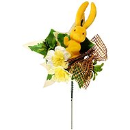 EverGreen Easter pick with rabbit. height 25 cm, colour various colours - Decoration
