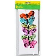 EverGreen Butterfly x 6 pcs, 8 x 5cm, Colour: Multicoloured - Decoration