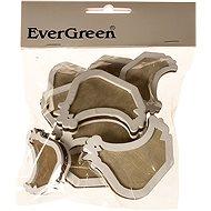 EverGreen Wooden Hen 10 pcs, Colour: Natural - Decoration