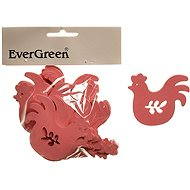 EverGreen Wooden Rooster 20 pcs, Colour: Pink - Decoration