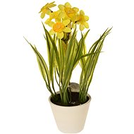 EverGreen Daffodil in a Pot, Height of 22cm, Colour Yellow - Artificial Flower