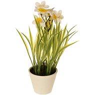 EverGreen Narcis v květináči , výška 22 cm, barva bílá - Umělá květina
