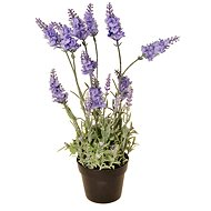 EverGreen Lavender 16 Flowers in a Pot, Height of 38cm, Colour Light Purple - Artificial Flower