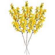 EverGreen Forsythia x 7 branches, set of 3 pcs, height 50 cm, colour yellow - Decoration
