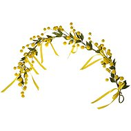 EverGreen Mimosa - Hanging Decoration, Height of 50cm, Colour Yellow - Artificial Flower