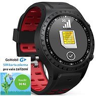 EVOLVEO SportWatch M1S Black Red, SIM
