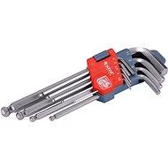 EXTOL PREMIUM L-klíče IMBUS, sada 9ks, 1,5-10mm, s kuličkou - Sada imbusových klíčů