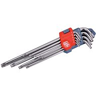 EXTOL PREMIUM L-keys TORX Extended, Set of 9 pcs, T10-50mm - Torx set