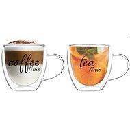 """EzyStyle """"Tea Time / Coffee Time"""" Sklenice 250ml, 2ks set"""