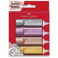 Faber-Castell Textliner 1546 metalický - sada 4 barev - Zvýrazňovač