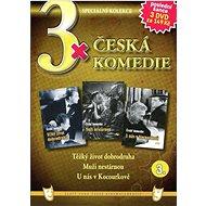 3x Česká komedie 3: Těžký život dobrodruha, Muži nestárnou, U nás v Kocourkově /papírové pošetky/ (3 - Film na DVD