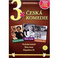 3x Česká komedie 5: Nezbedný bakalář, Řeka čaruje, Klapzubova XI. /papírové pošetky/ (3DVD) - DVD - Film na DVD