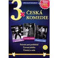 3x Česká komedie 6: Počestné paní pardubické, Červená ještěrka, Čtrnáctý u stolu /papírové pošetky/  - Film na DVD