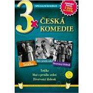 3x Česká komedie 7: Tetička, Muž z prvního století, Divotvorný klobouk /papírové pošetky/ (3DVD) - D - Film na DVD