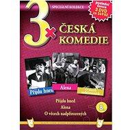 3x Česká komedie 8: Přijdu hned, Alena, O věcech nadpřirozených /papírové pošetky/ (3DVD) - DVD - Film na DVD