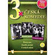 3x Česká komedie 9: Život je pes, Zaostřit prosím!, Z českých mlýnů /papírové pošetky/ (3DVD) - DVD - Film na DVD