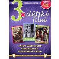3x Dětský film - Táto sežeň štěně, Robinsonka, Honzíkova cesta /papírové pošetky/ (3DVD) - DVD - Film na DVD