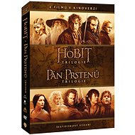 Kolekce STŘEDOZEMĚ - Komplet ságy Hobit a Pán prstenů v kinoverzi (6DVD) - DVD - Film na DVD