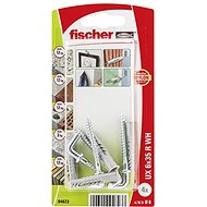 fischer Universal Plug UX 6 X 35 R Wh with Angle Hook - Fastening Material Set