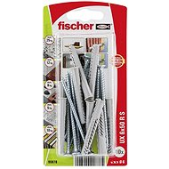 fischer Universal Plug UX 6 x 50 R with Rim and Screw - Fastening Material Set