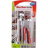 fischer DUOPOWER 10 x 50 Universal Dowel + Screw - Fastening Material Set