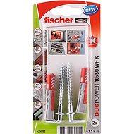 fischer DUOPOWER 10 x 50 Universal Dowel + Angle Hook - Fastening Material Set