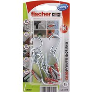 fischer DUOPOWER 5 x 25 Universal Dowel + Hook - Fastening Material Set