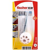 fischer TS Zarážeč dveří bílá - Sada spojovacího materiálu