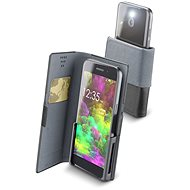 Cellularline Slide & Click XXXL with Hinged Top of PU Leather, Black - Mobile Phone Case