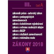 Zákony 2018 III. časť A - Kniha