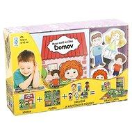 Domov Moje malá knížka BOX: Kniha + puzzle + figurky 6ks + hrací sada - Kniha