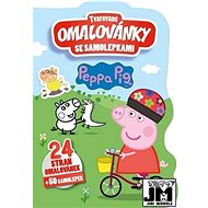 Shaped colouring book with Peppa stickers