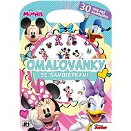 Minnie stickers colouring book: More than 30 stickers