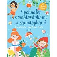 3 pohádky s omalovánkami a samolepkami: Červená karkulka, Kniha džunglí, Popelka - Kniha