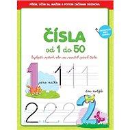 Čísla od 1 do 50: Najlepší spôsob, ako sa naučiť písať čísla, zmazateľné pero zdarma - Kniha