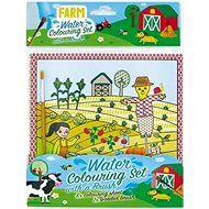 Water colouring book with farm brush - Creative Kit