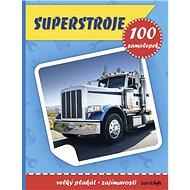 Superstroje: Plakát a 100 samolepek - Kniha