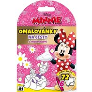 Travel colouring pages with Minnie wax crayons
