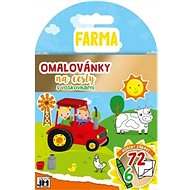 Coloring book for travel with Farm wax crayons - Creative Kit