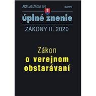 Aktualizácia II/4 úplné znenie Zákony II. 2020: Zákon o verejnom obstarávaní - Kniha