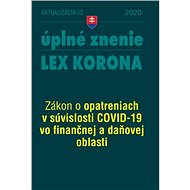 Aktualizácia I-2/2020 –LEX-KORONA – daňová a finančná oblasť - Kniha