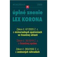 Aktualizácia I/3 2020 – finančná správa, cestovné náhrady: opatrenia proti koronavírusu - Kniha