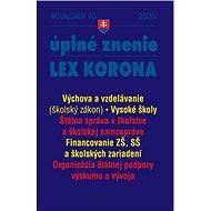 Aktualizácia V/3 2020 – štátna správa, školstvo, výskum a vývoj: LEX-KORONA, opatrenia proti koronav - Kniha