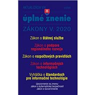 Aktualizácia V/4 2020 – štátna služba, informačné technológie verejnej správy: opatrenia proti koron - Kniha
