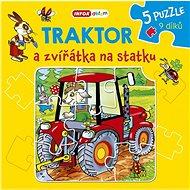 Traktor a zvířátka na statku: 5 puzzle 9 dílků - Kniha
