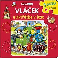 Vláček a zvířátka v lese: 5 puzzle 9 dílků - Kniha