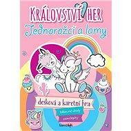 Království her Jednorožci a lamy: Zábavné úkoly, samolepky, desková a karetní hra - Kniha